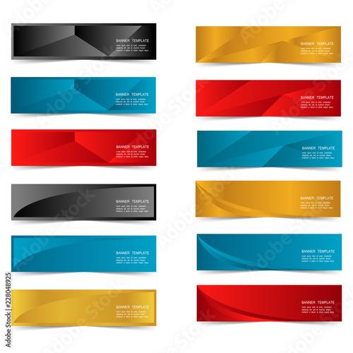 Fototapeta Abstract Web banner design header Templates vector obraz