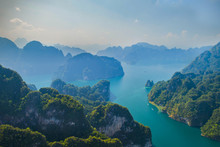 A View Of Khao Sok National Park Cheow Lan Dam From Drone