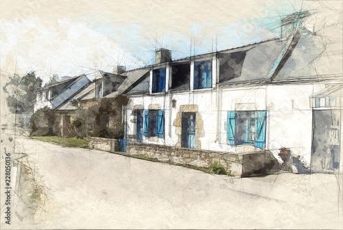 Foto Village in Brittany