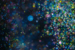 canvas print picture Abstract background with glittering color particles
