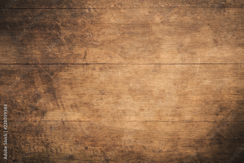 Fototapety, obrazy: Old grunge dark textured wooden background,The surface of the old brown wood texture,top view brown teak wood paneling