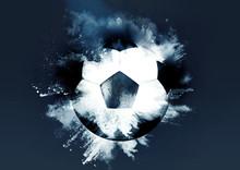 粉砕するサッカーボー...