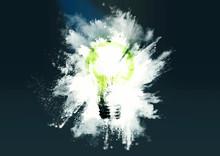 粉砕する電球