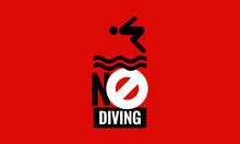 No Diving Allowed Sign Vector Illustration