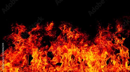 Photo sur Toile Feu, Flamme fire burning