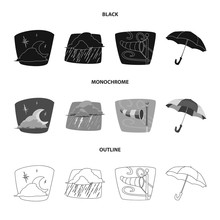 Vector Design Of Weather And C...