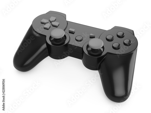 3d rendering video game controller on white background Tableau sur Toile