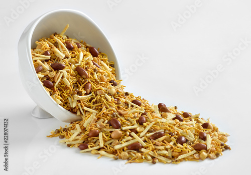 Special Mix Nimco, Mix Nimco, A specific blend of spicy potato stick, peanuts, sev, fried mutter, and chana Canvas Print