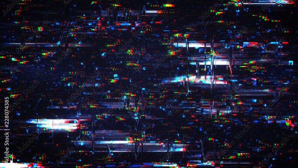 Fototapeta Glitch effect digital noise background