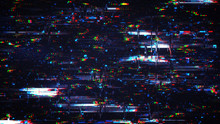 Glitch Effect Digital Noise Background