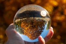 Closeup Of A Glass Ball