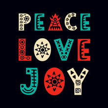 Peace, Love, Joy. Christmas Gr...