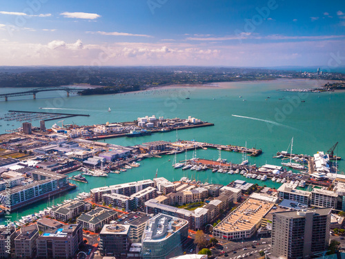 Foto op Canvas Poort Auckland harbour aerial view