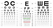 Eye Test Chart Placard Banner ...