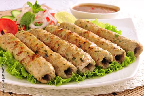 Photo Chicken Seekh Kabab, Chicken Reshmi Kebab