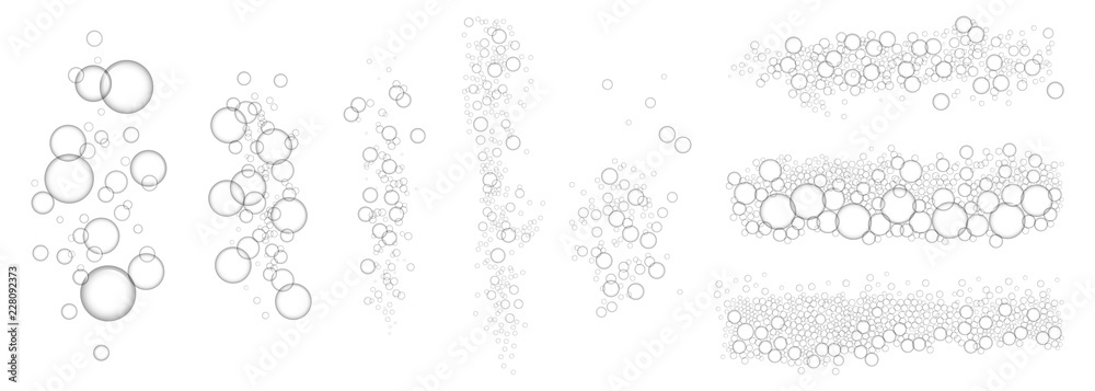 Fototapety, obrazy: Bubbles underwater concept background. Realistic illustration of bubbles underwater vector concept background for web design