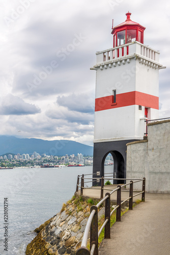 View at the Brockton Point Lighhthouse of Stanley Park in Vancouver - Canada Fotomurales