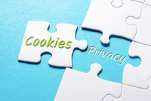 The Words Cookies And Privacy In Missing Piece Jigsaw Puzzle