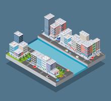 Isometric City Block