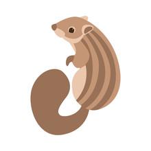 Chipmunk Vector Illustration Flat Style Profile