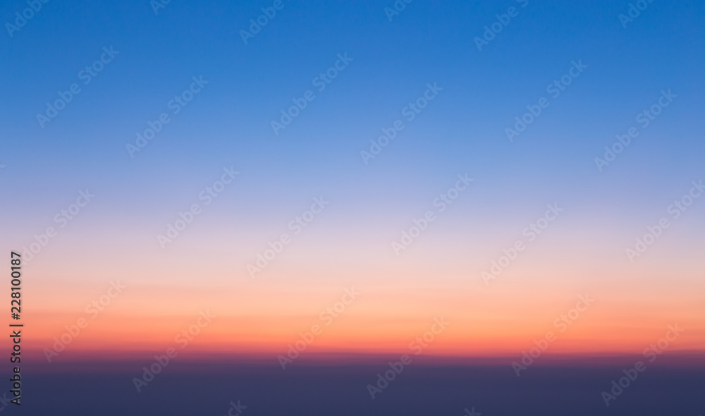 Fototapety, obrazy: Colorful clear sky without cloud at twilight time before sunrise