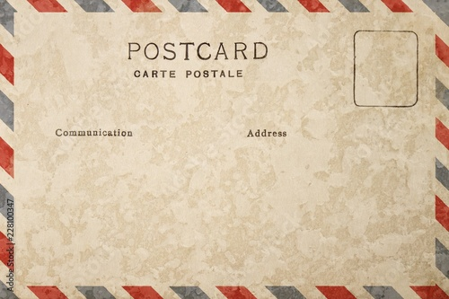 Fotografie, Obraz  Backside of blank postcard with stain