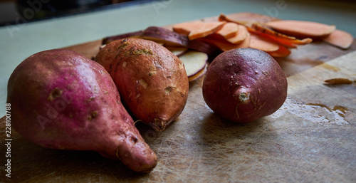 Kumara, New Zealand sweet potato Canvas Print