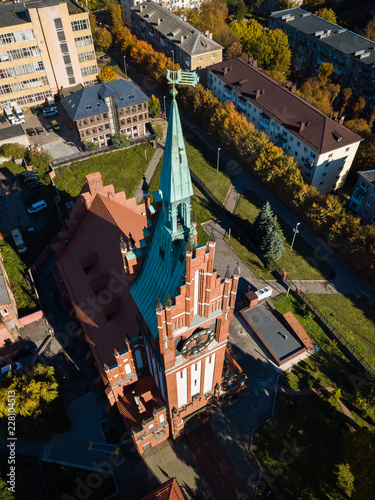 Deurstickers Theater Aerial: Philharmonic Organ Hall in Kaliningrad