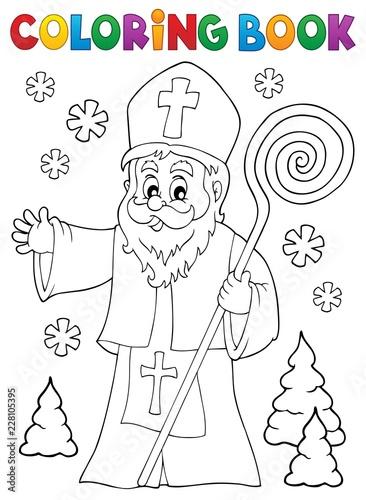 Coloring book Saint Nicholas topic 1