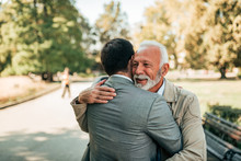 Elderly Father And Adult Son H...