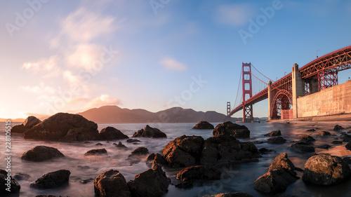 Valokuva  Golden Gate Bridge in San Francisco (Kalifornien)