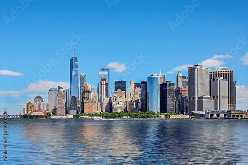 Keuken foto achterwand New York City panoramic views of the New York City Manhattan