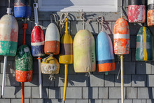 Colorful Buoys On The Wall Of ...