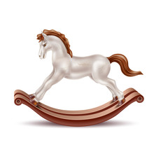 Vector Realistic Rocking Horse...