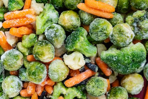 frozen vegetables closeup