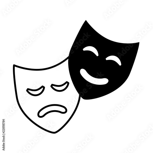 Fotografija  comedy drama masks theater symbol