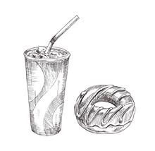 Cola Paper Cup, Dessert Vector...