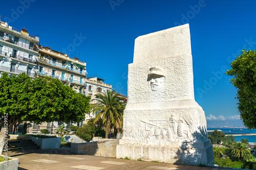 Monument in Flower Clock Garden in Algiers, Algeria