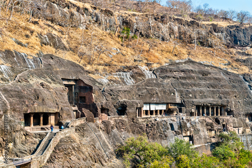 Deurstickers Asia land View of the Ajanta Caves. UNESCO world heritage site in Maharashtra, India