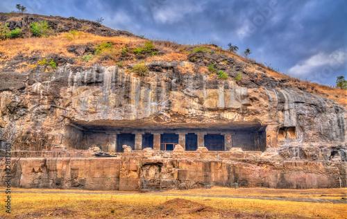 Deurstickers Asia land Kumbharvada, cave 25 at the Ellora complex. UNESCO world heritage site in Maharashtra, India