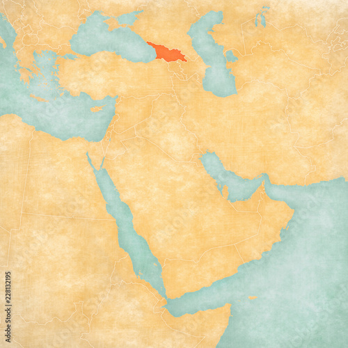 Map Of East Georgia.Map Of Middle East Georgia Buy This Stock Illustration And