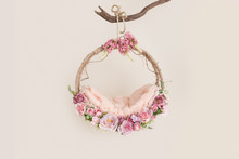 Lovely Flower Background For Newborn Baby, Concept Of Newborn Baby.