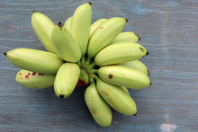 Top View Of Raw Kind Of Banana...