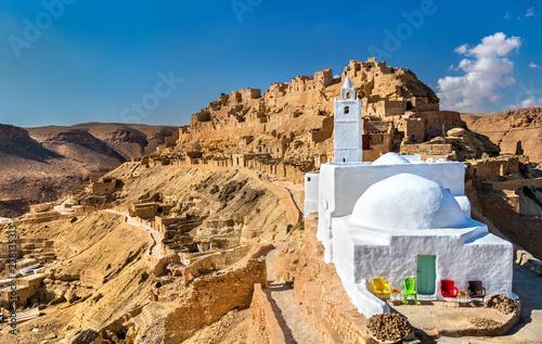 Carta da parati Mosque at Chenini, a a fortified Berber village in Southern Tunisia