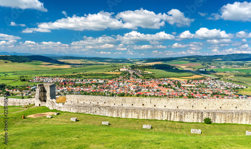 Keuken foto achterwand Historisch geb. Spis Castle, a UNESCO world heritage site in Slovakia