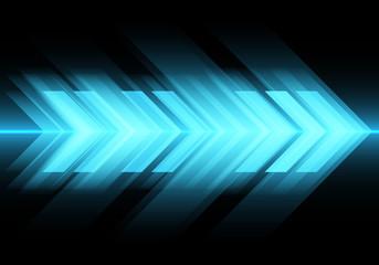 Abstract blue light arrow speed on black design modern futuristic technology background vector illustration.