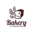 Food Bread logo vector. Bakery emblem design. Food logo vector template.