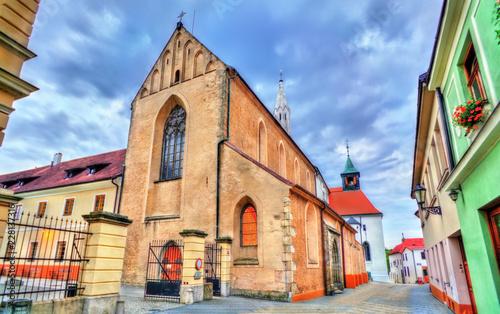 Spoed Foto op Canvas Centraal Europa Saint John the Baptist Church in Jindrichuv Hradec, Czech Republic