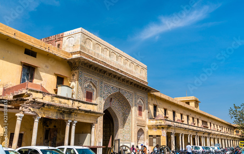 Deurstickers Asia land Entrance Gate of City Palace in Jaipur, India