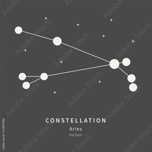 The Constellation Of Aries. The Ram - linear icon. Vector illustration of the concept of astronomy.